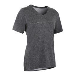 510 Women's Gentle Gym & Pilates T-Shirt - Heathered Grey Print