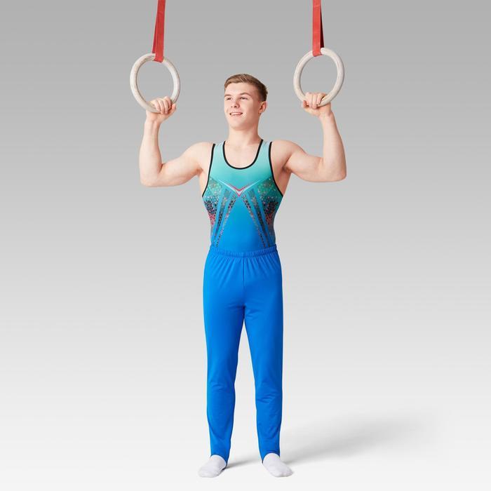 Léotard Gymnastique Artistique Masculine Bleu / Turquoise