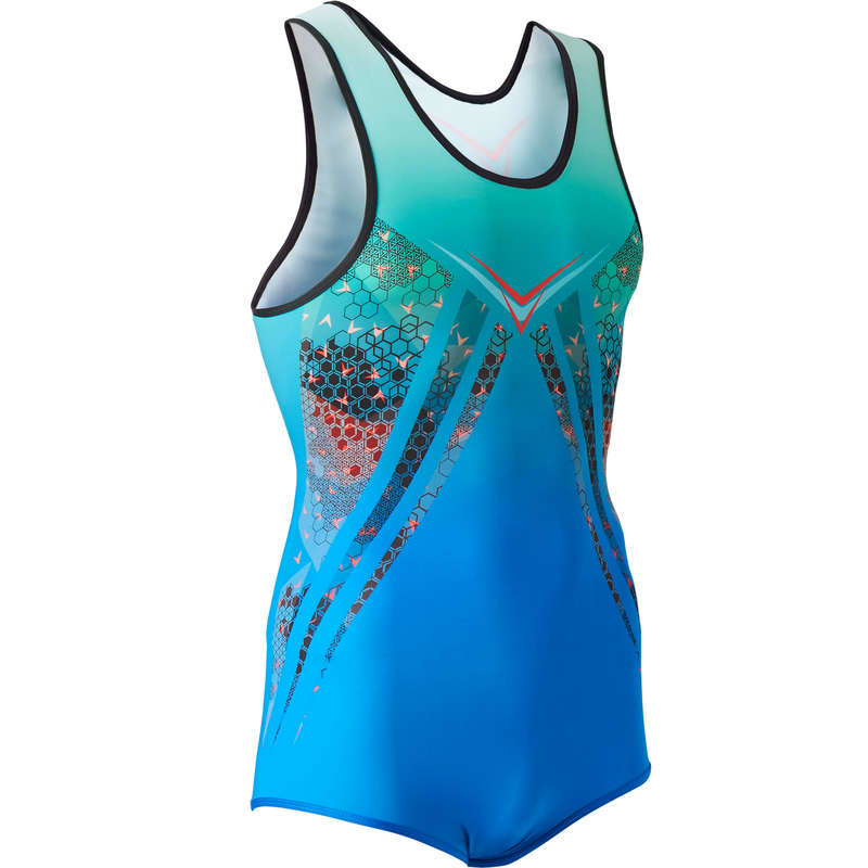 MENS ARTISTIC GYM APPAREL, HAND GRIP Gymnastics - MAG 500 Leotard - Blue DOMYOS - Gymnastics