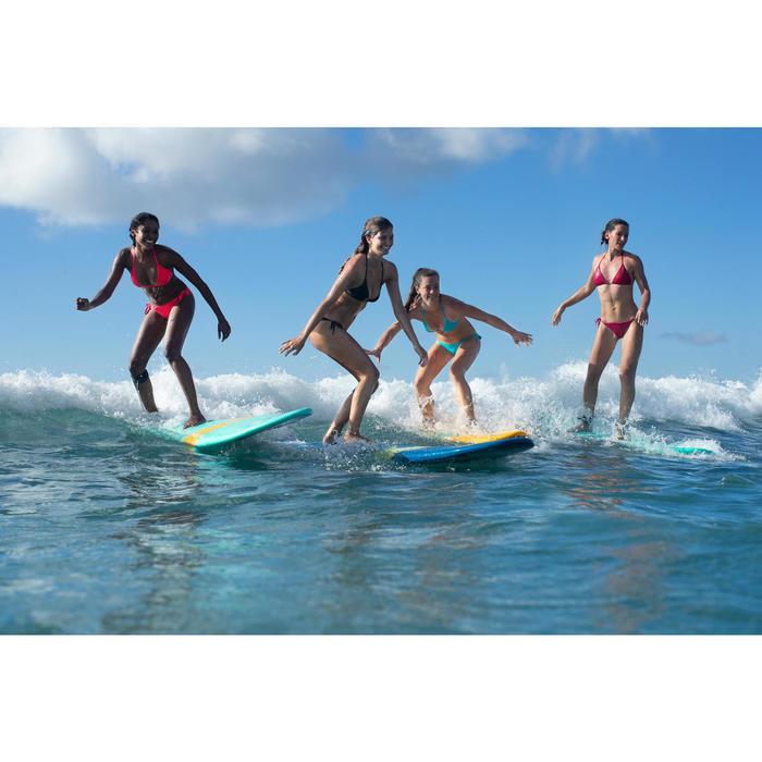 Top Bikini Triangulos Corredizos Olaian Mae Clásico Mujer Coral Fluor