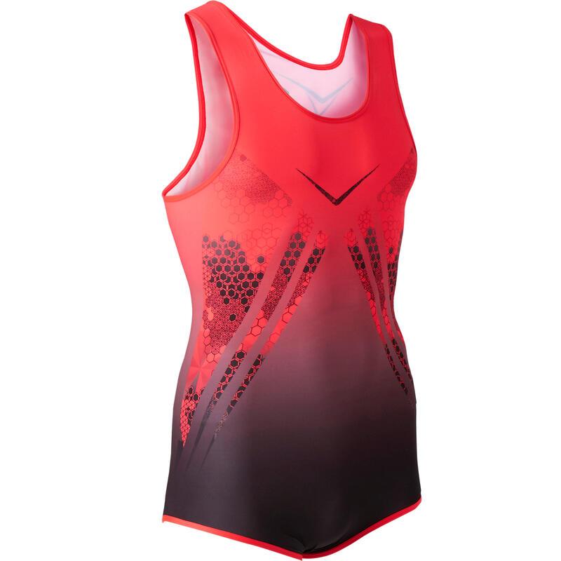 Boys' Artistic Gym Leotard - Red/Black