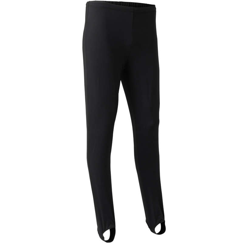 MENS ARTISTIC GYM APPAREL, HAND GRIP Clothing - GAMSK 500 Stirrup Pants Black DOMYOS - Bottoms