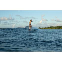 Boardshort surf femme TINI ETHNI avec ceinture élastiquée et cordon de serrage