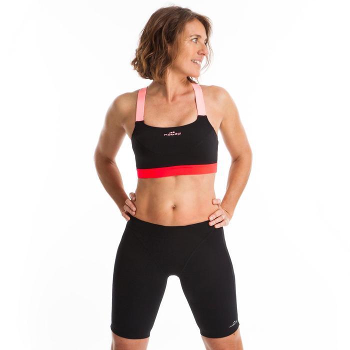 Bas de maillot de bain short jammer d'Aquafitness femme Anna noir