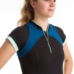 Aquafitness-Shirt Zia Aquagym Damen schwarz/blau