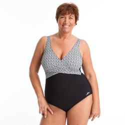 Badeanzug Aquagym Lori figurformend Damen schwarz