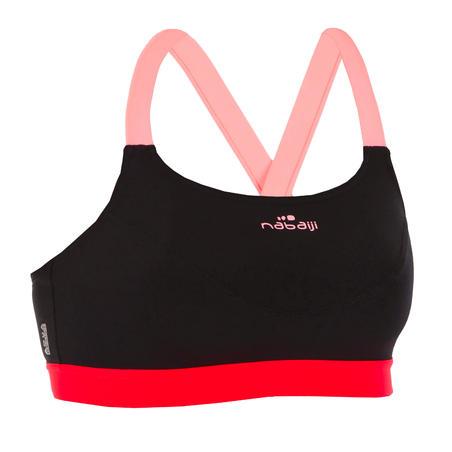 Haut de maillot de bain d'aquaforme femme Anna noir orange