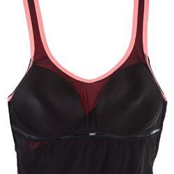 Corrigerend badpak voor aquagym Karli zwart/oranje