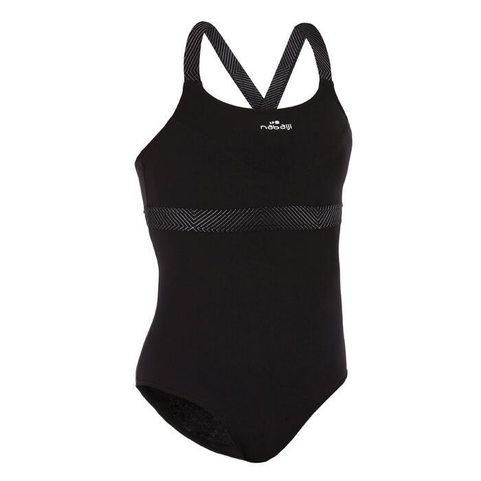 Damesbadpak voor aquafitness Anna zwart square