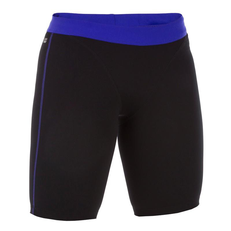 Bas de maillot de bain short jammer d'aquaforme femme Anna noir bleu