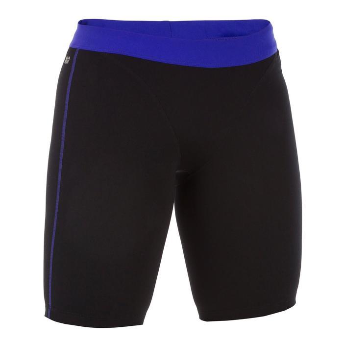 Bas de maillot de bain short jammer d'Aquafitness femme Anna noir bleu