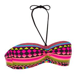 Bikinitopje met bandeaumodel vaste pads Laeti Gio Multi