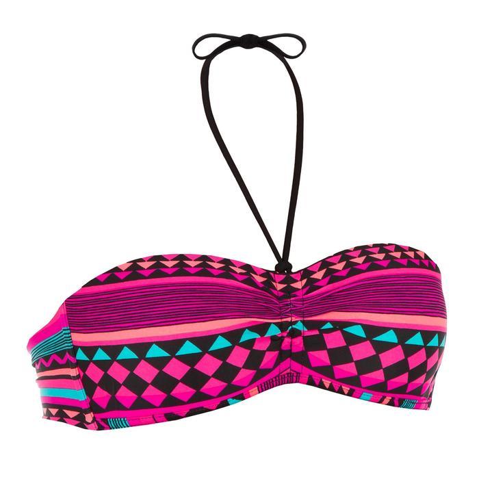 Bikini-Oberteil Bandeau Laeti Gio Rose angenähte Formschalen Damen