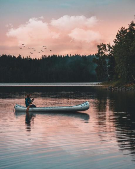 Faire du kayak pour la première fois en Suède