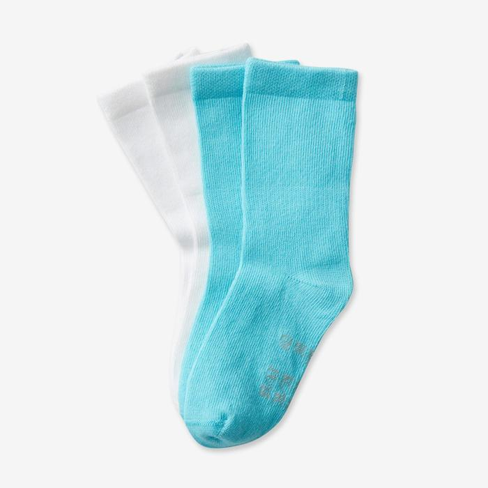 Socken 100 Mid Babyturnen türkis/grau meliert