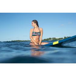 Top Bikini Surf Palabra de Honor Olaian Laura Mujer Bandeau Copas Verde Fluor