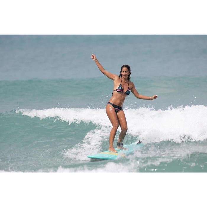 Braga Bikini Surf Ancha Olaian Nina Mujer Clásica Estampado Mosaico Azúl Verde