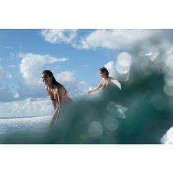 Bikini-Oberteil Bandeau Laeti Gio angenähte Formschalen Surfen Damen grün