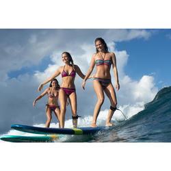 Top Bikini Surf Triangulos Corredizos Olaian Mae Pad Gio Mujer Rosa Fluor