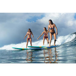 Top Bikini Surf Triangulos Corredizos Olaian Mae Pad Gio Mujer Multicolor Fluor