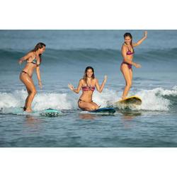 Top Bikini Surf Triangulos Corredizos Olaian Mae Pad Gio Mujer Verde Fluor