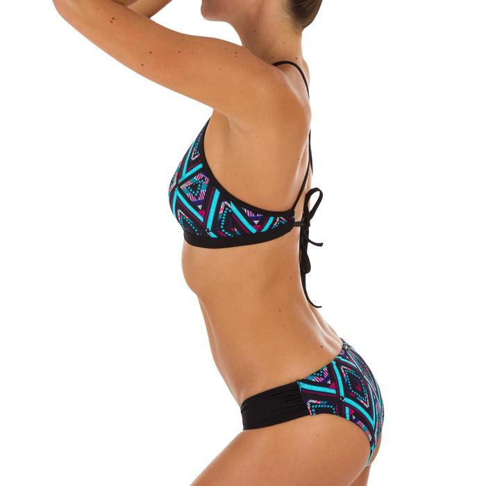 Top Bikini Surf Sujetador Deportivo Olaian Ajuste Espalda Andrea Mujer Azul FLuo