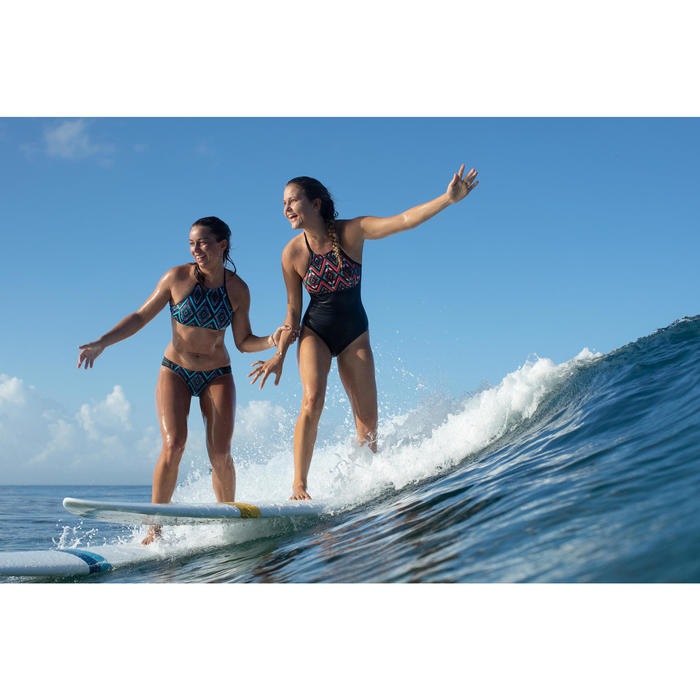Top Bikini Surf Sujetador Deportivo Olaian Ajuste Espalda Andrea Mujer Rosa FLuo