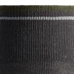Calcetines Equitación Fouganza 500 WARM Niño/Niña gris/caqui Cálido x1