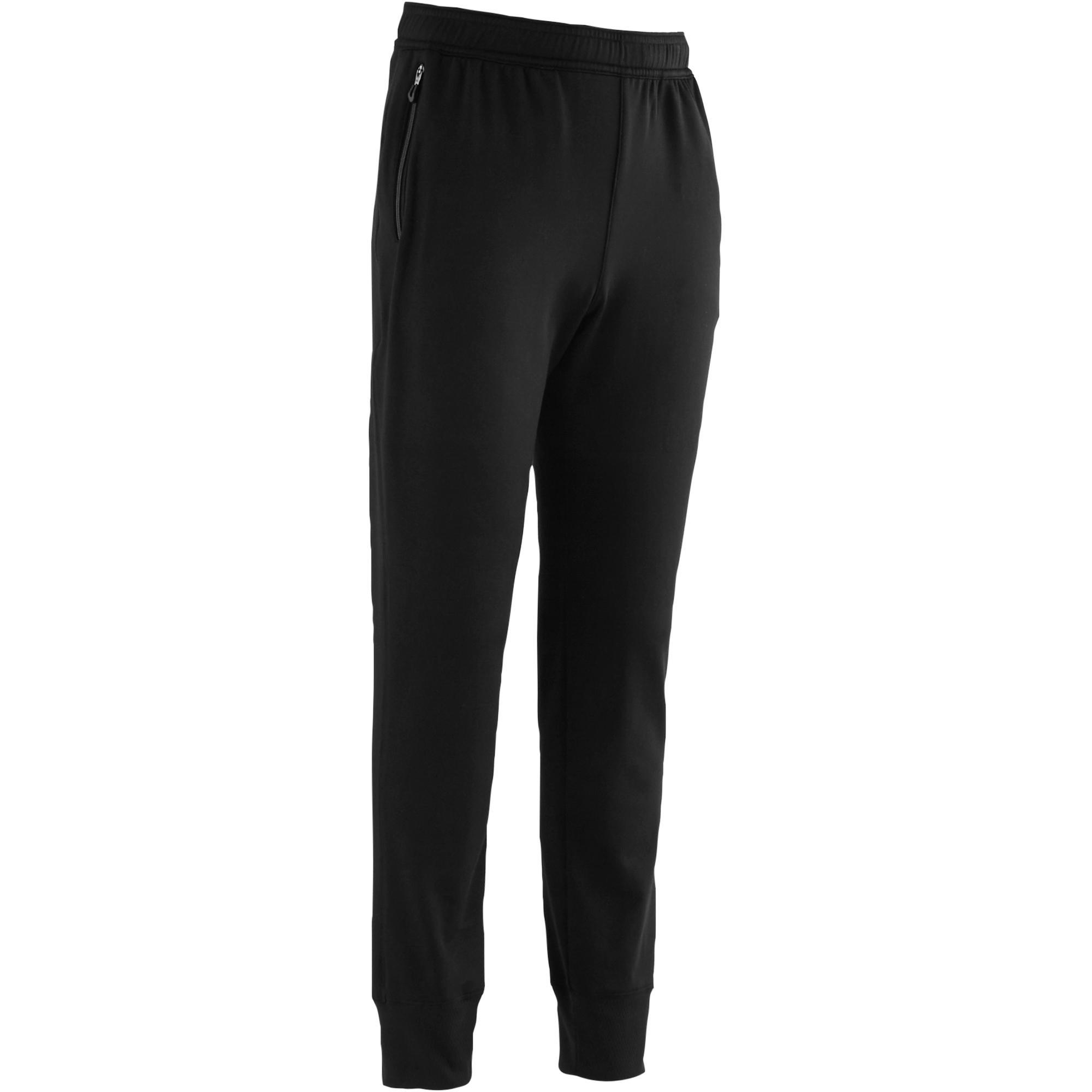 Pantalón cálido sintético transpirable S500 niño GIMNASIA JÚNIOR negro