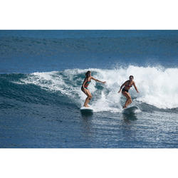 Bas de maillot de bain shorty de surf femme AVEC SERRAGE VAIANA futuna noire