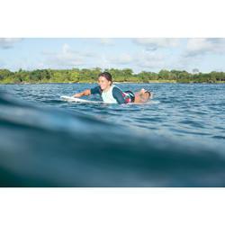 Uv-werende rashguard 500 korte mouwen surfen dames groen/zwart
