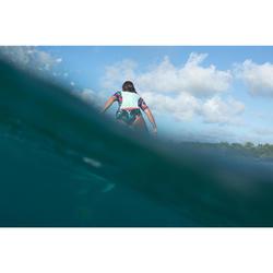 UV-Shirt Surfen Top 500S kurzarm Damen grün/schwarz