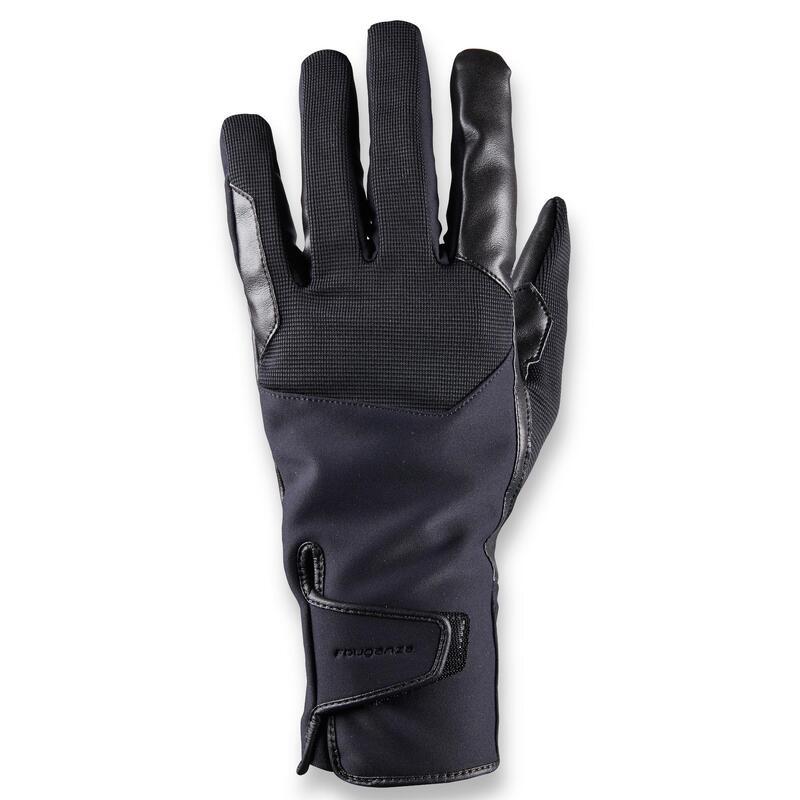 Gants d'équitation chauds et déperlants Homme - 560 WARM noir