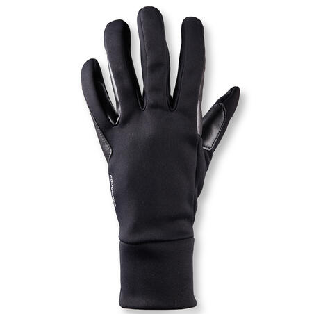 100 Warm Women's Horseback Riding Gloves - Black