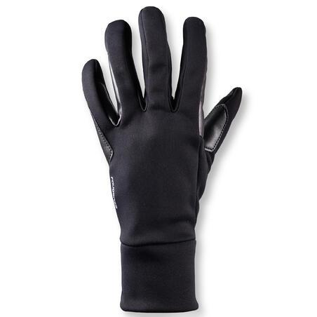 Gants d'équitation femme100 CHAUD noir