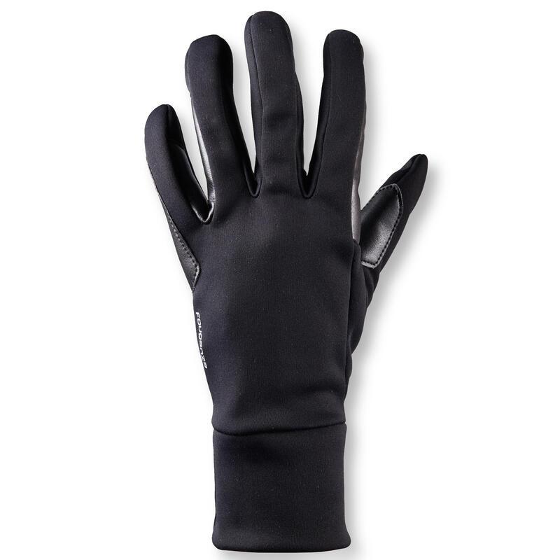 Gants d'équitation chauds Femme - 100 WARM noir
