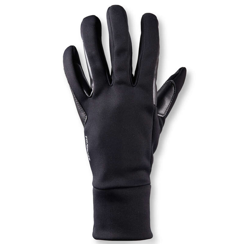 ADULT COLD WEATHER RIDING GLOVES/SOCKS Horse Riding - 100 Warm Women's Gloves -Black FOUGANZA - Horse Riding