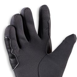 Gants chauds d'équitation enfant 100 WARM gris foncé