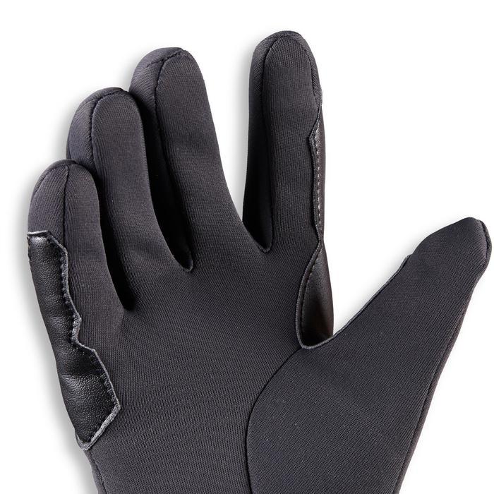Warme rijhandschoenen voor kinderen 100 Warm donkergrijs
