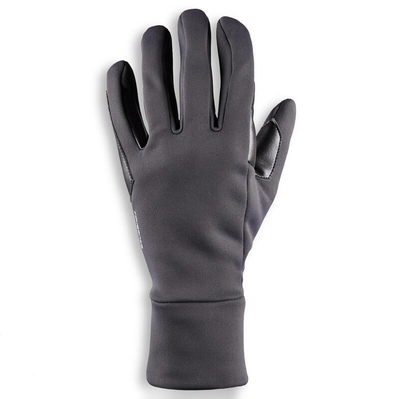 Gants d'équitation en cuir respirant Homme - 960 noir