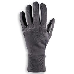 Guantes cálidos de equitación hombre 100 WARM gris oscuro