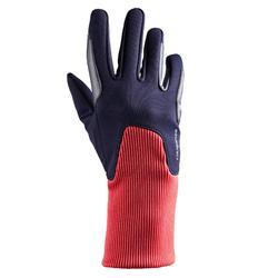 Warme rijhandschoenen voor kinderen 140 Warm marineblauw/roze
