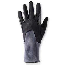 Guantes cálidos de equitación niño 140 WARM negro/gris