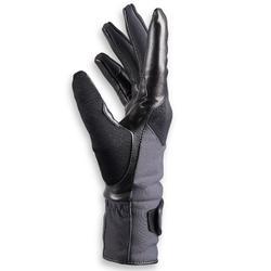 Gants chauds équitation femme 560 WARM gris/noir