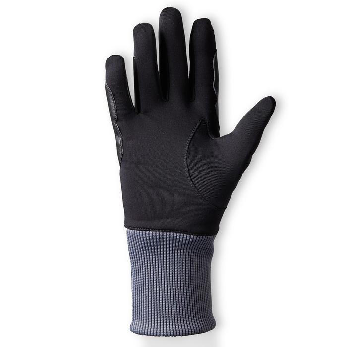 Gants chauds d'équitation enfant 140 WARM noir/gris
