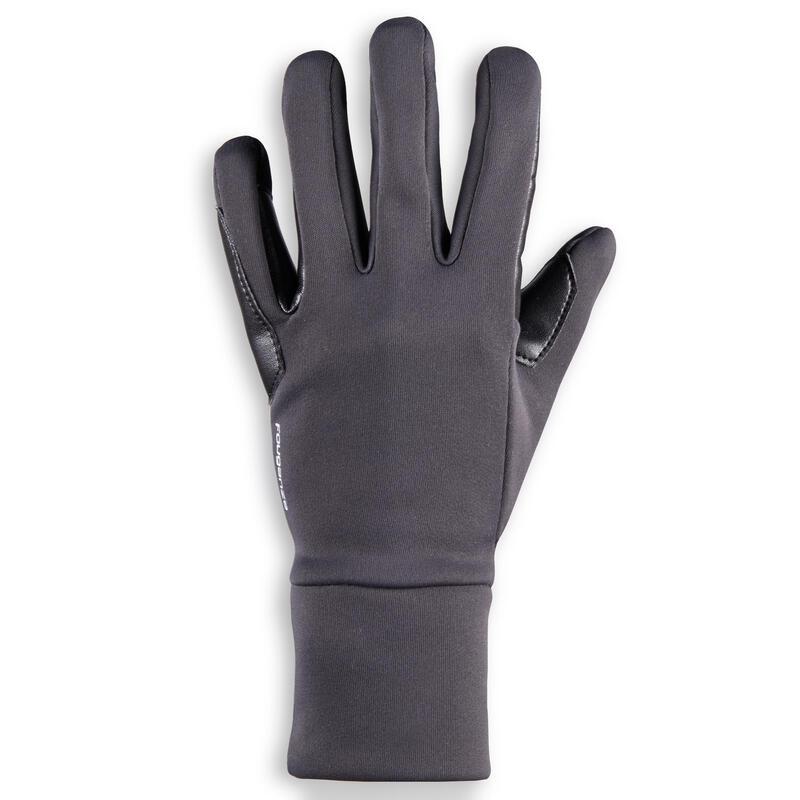 100 Warm Kids' Horseback Riding Gloves - Dark Grey