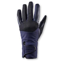 Guantes cálidos de equitación mujer 560 WARM azul marino/negro