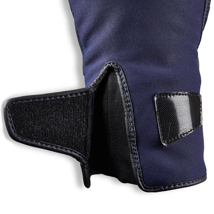 Gants chauds équitation femme 560 WARM marine/noir
