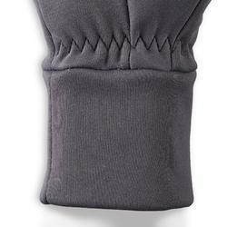 Gants chauds d'équitation homme 100 WARM gris foncé