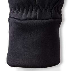 Gants chauds d'équitation femme 100 WARM noir
